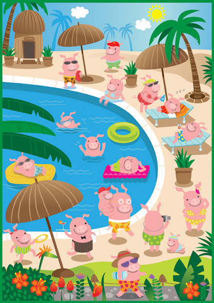 piggies in paradise!