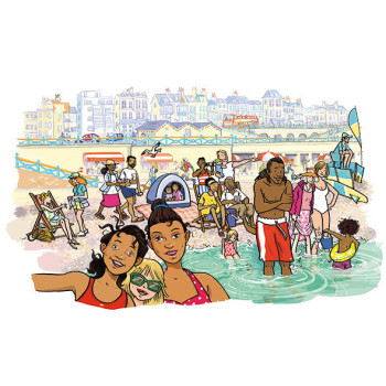 Brighton Beach, from On Track 6 published in Germany by Schoeningh/Westermann
