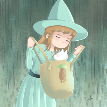 The little witch &  the stubborn cat