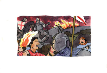 Fire at Orleans, Joan of Arc, Famous Lives, published by Usborne Uk