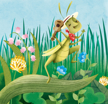 Aesop Fable: The Ant and the Grasshopper, published by Compass