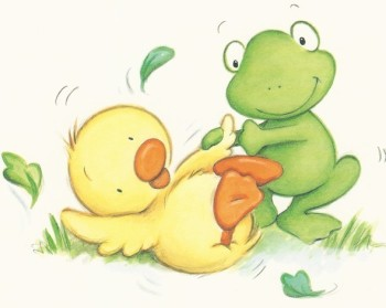 Duck and frog