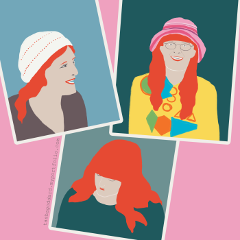 Stylised portraits of my mother