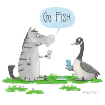Zebra and goose card game
