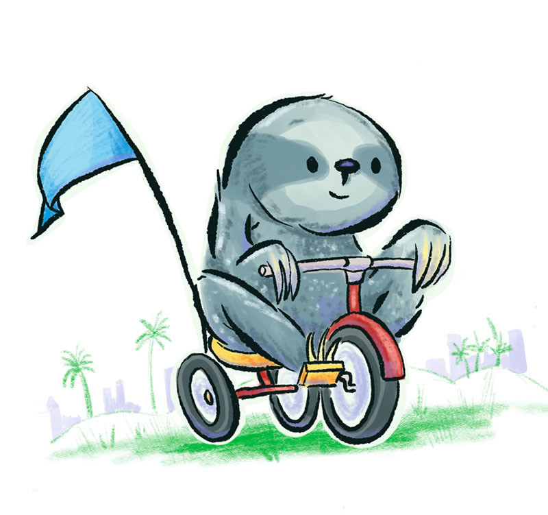 Sloth on a Tricycle