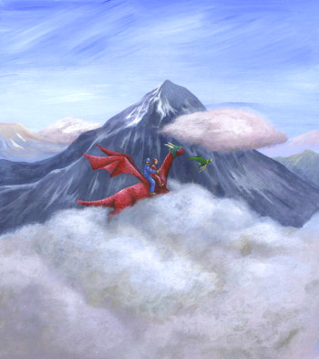 Pinky The Invisible Dragon climbs Mount Everest