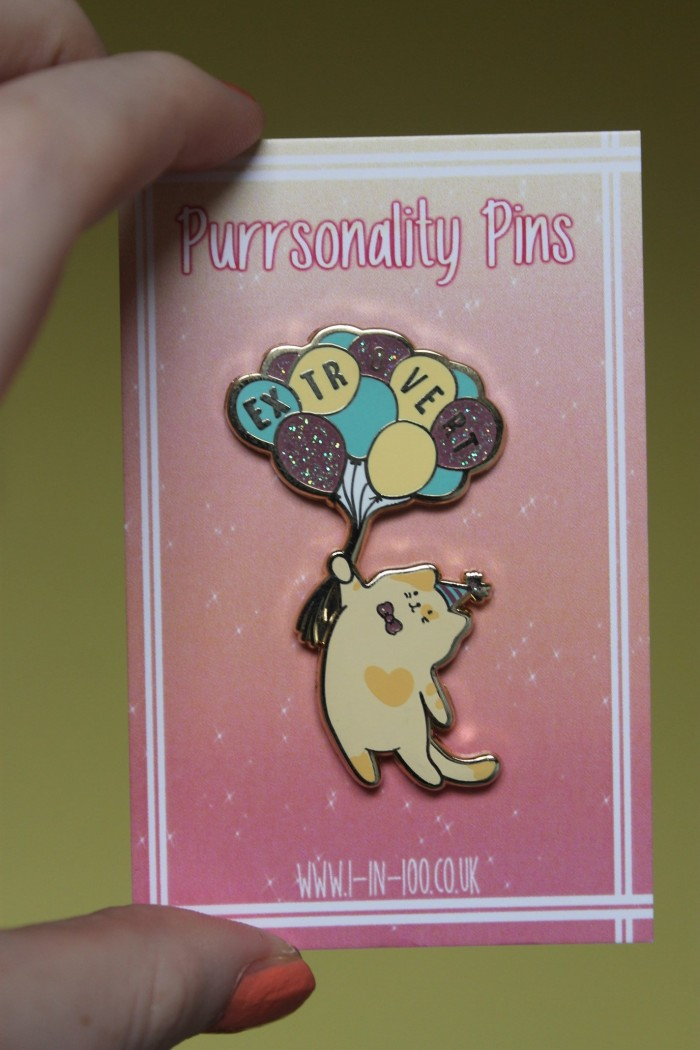 Purrsonality Pins Extrovert