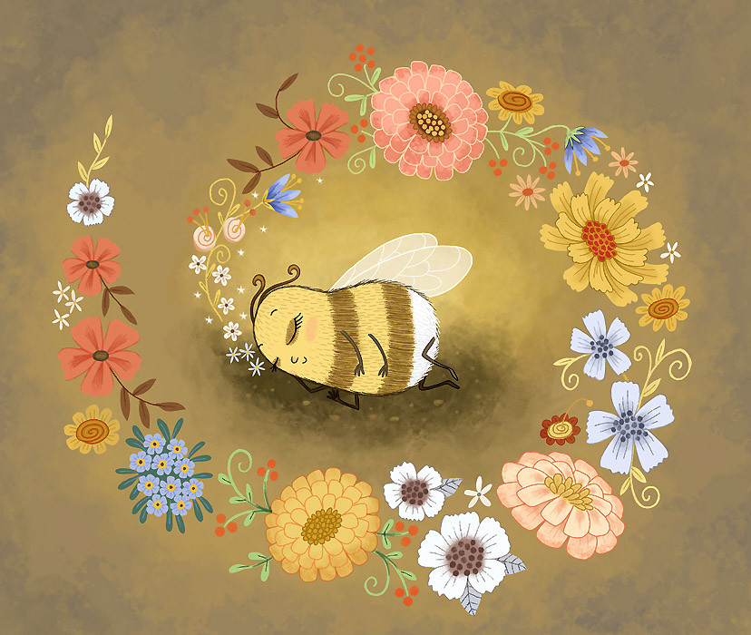 Bella Bee Dreams of Flowers