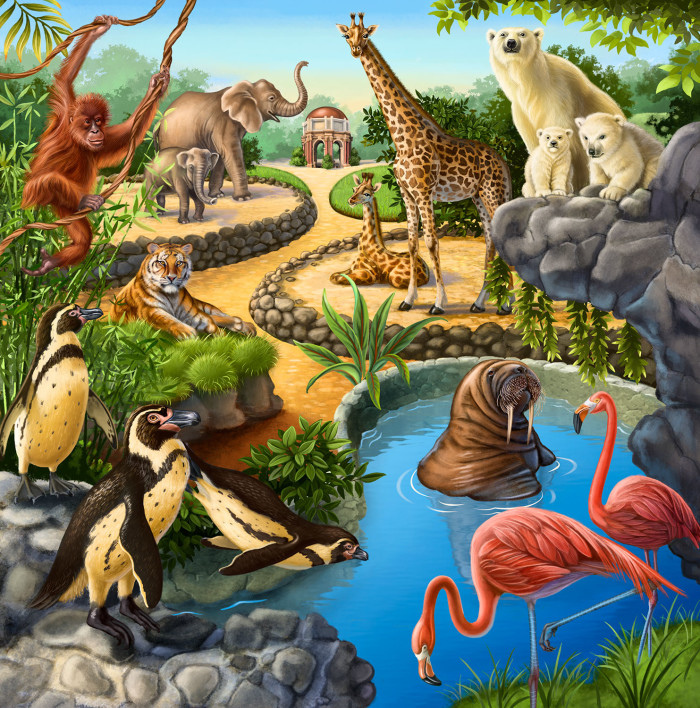Animals at the Zoo - puzzle