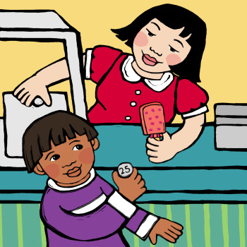 """""""Ice Cream Money"""" Bebop Books / Lee and Low Publishers"""