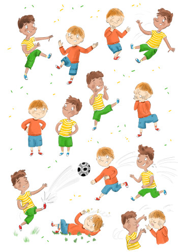 Character Study - Young boys playing