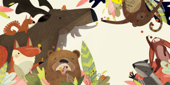 Illustration from `Brownie the Bear` children`s book