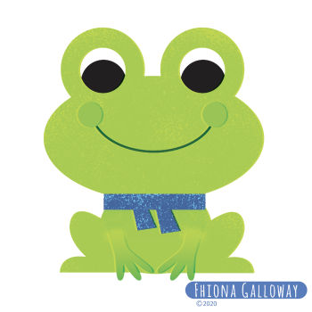 frog in scarf