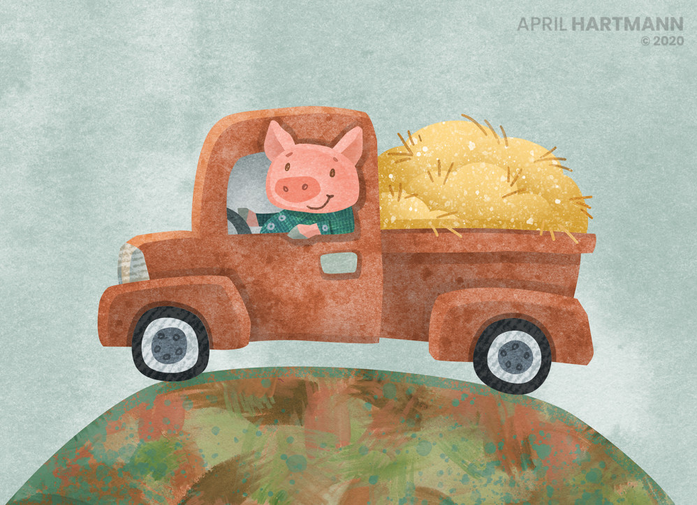 Pig in Truck