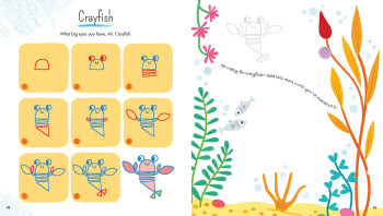 Draw Animals with Simple Shapes - Crayfish