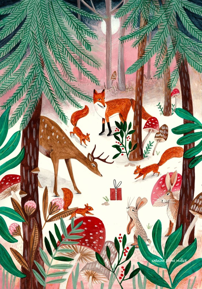 Winter Forest Animals