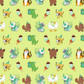 Party Like an Animal Pattern 1
