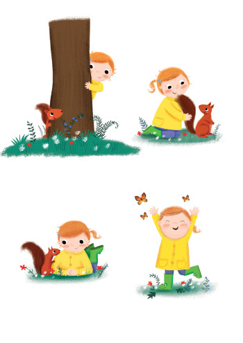 squirrel and girl spots