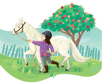Amelia and her horse, Apple