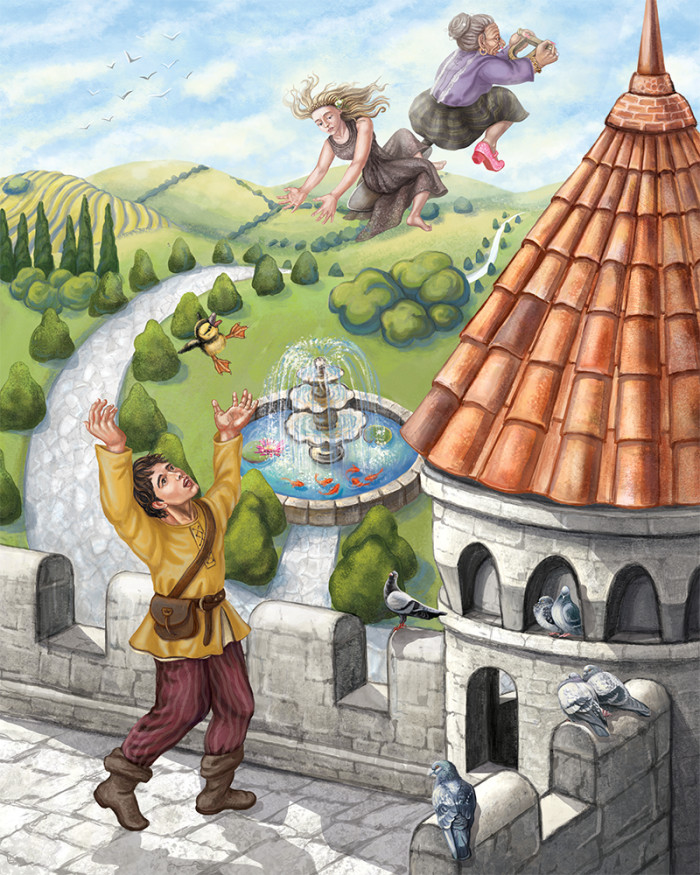 Interior illustration for Crystal Quest