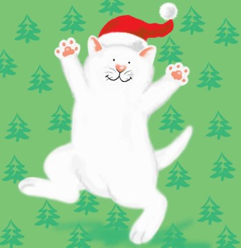 Christmas Cat - greeting card