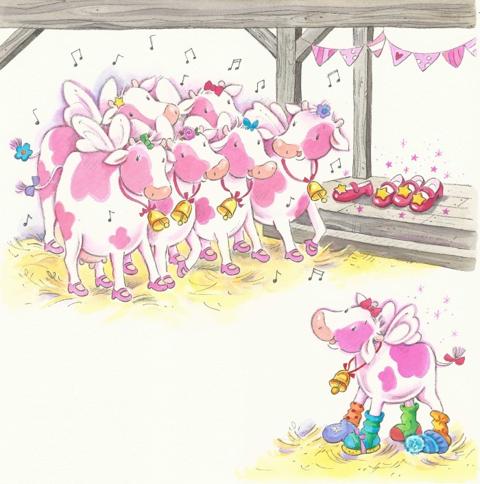 Sugar pie shoes (singing cows)