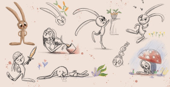 Character design of rabbit