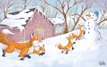 Snow foxes