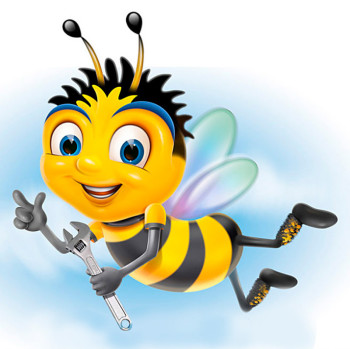 Bizzi Bee character created for Hozelock.