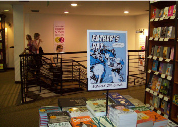 Waterstones Nationwide Fathers' D-day 3 for 2 Book promo. Look out!