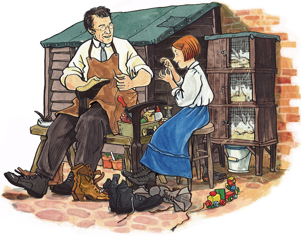 A century's Memories - mending Shoes with Dad. Published by Bath and Somerset Council