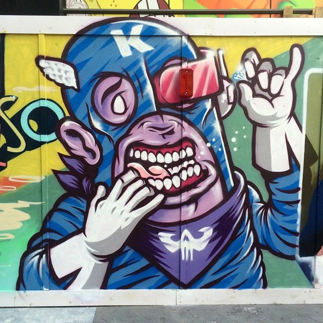 Captain Kris lights up Leicester Square