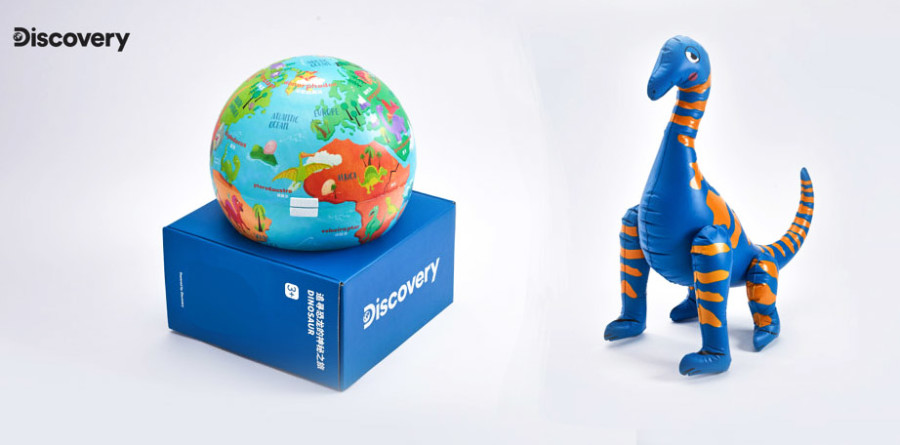 Illustrations for Dino-Themed Toy Set for Discovery Channel in China