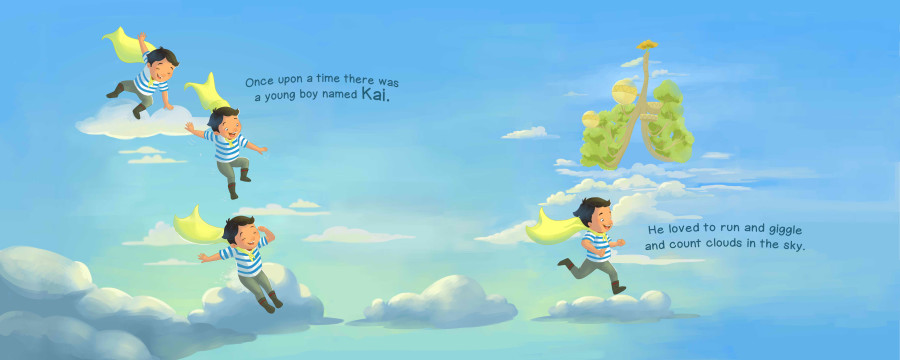 Kai in the Mind's Sky picture book