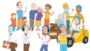Health and Safety Campaign Illustrations for Apetito Catering