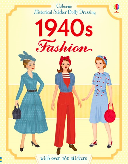 1940s fashion Historical Sticker Dolly Dressing