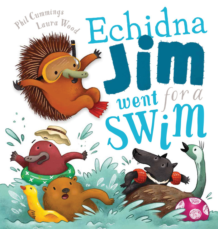 Echidna Jim Went For A Swim