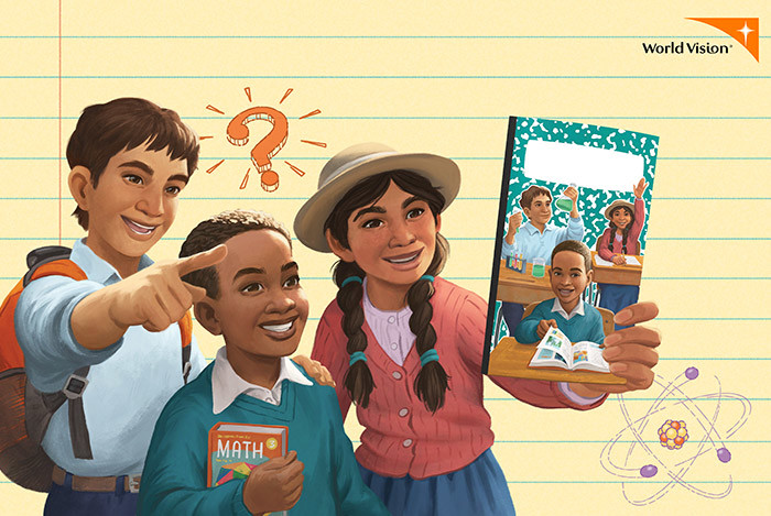 World Vision Back to School Notebook