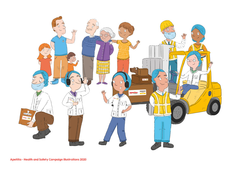 Apetito - Health and Safety campaign Illustrations